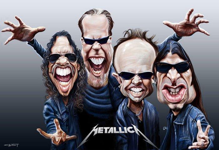 Карикатуры на рок исполнителей от Себастьян ролях. (6)