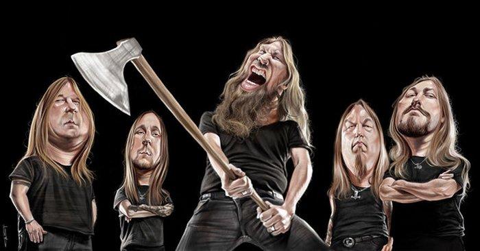 Карикатуры на рок исполнителей от Себастьян ролях. (8)