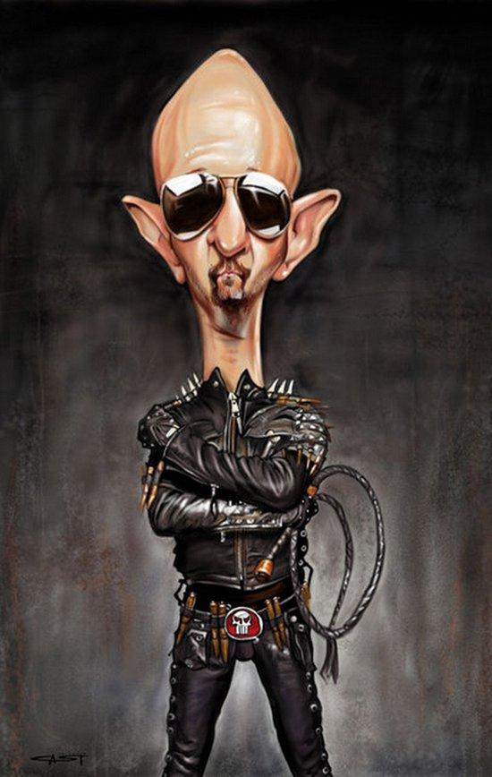 Карикатуры на рок исполнителей от Себастьян ролях. (14)