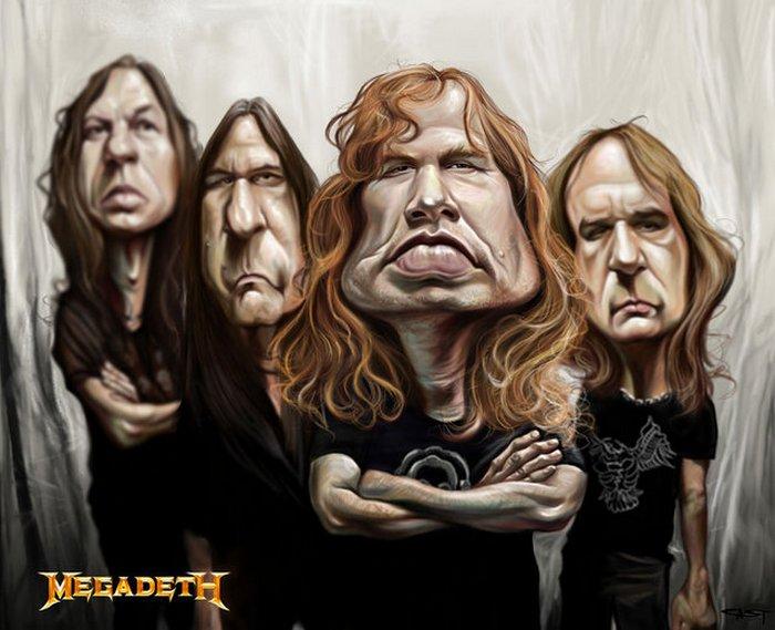 Карикатуры на рок исполнителей от Себастьян ролях. (7)