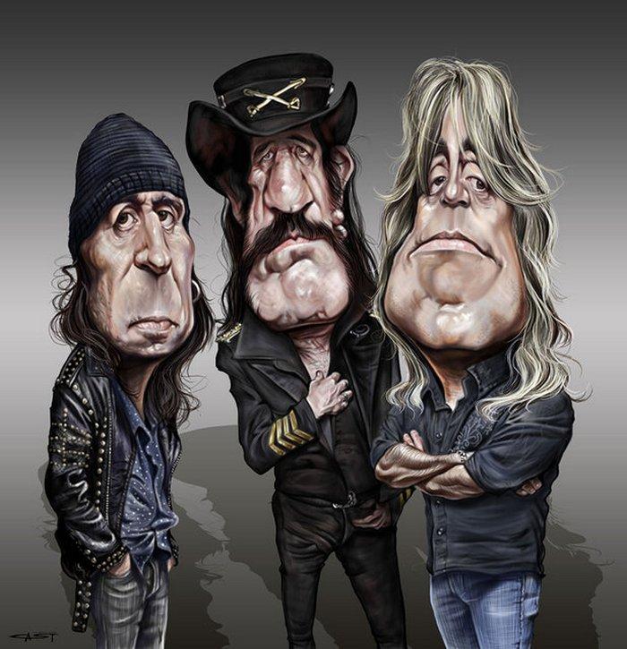 Карикатуры на рок исполнителей от Себастьян ролях. (2)