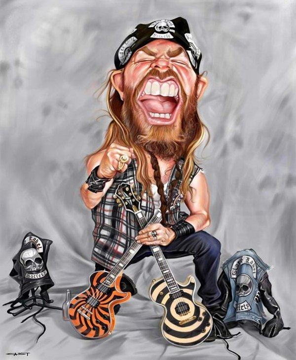 Карикатуры на рок исполнителей от Себастьян ролях. (19)