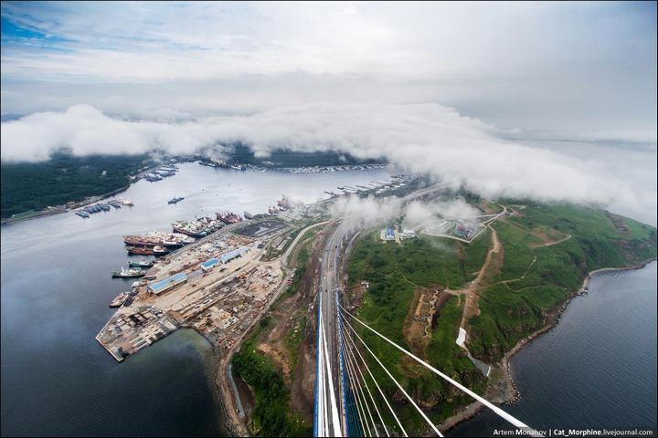 Восхождение на вантовый мост во Владивостоке (4)