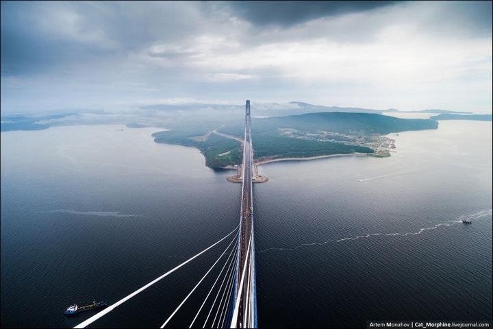 Восхождение на вантовый мост во Владивостоке (5)