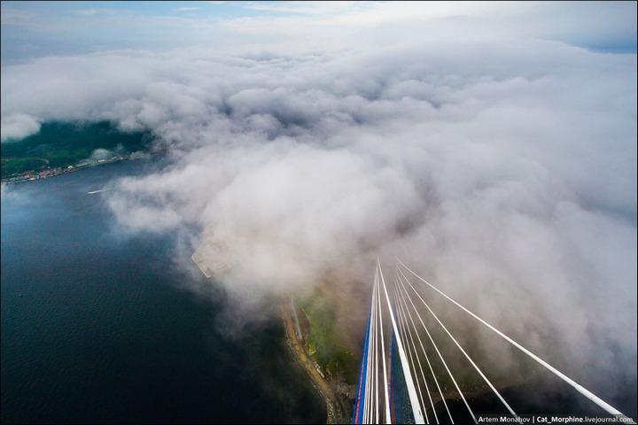 Восхождение на вантовый мост во Владивостоке (9)