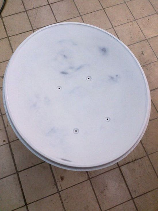 Фото. Летняя покраска спутниковой тарелки (1)
