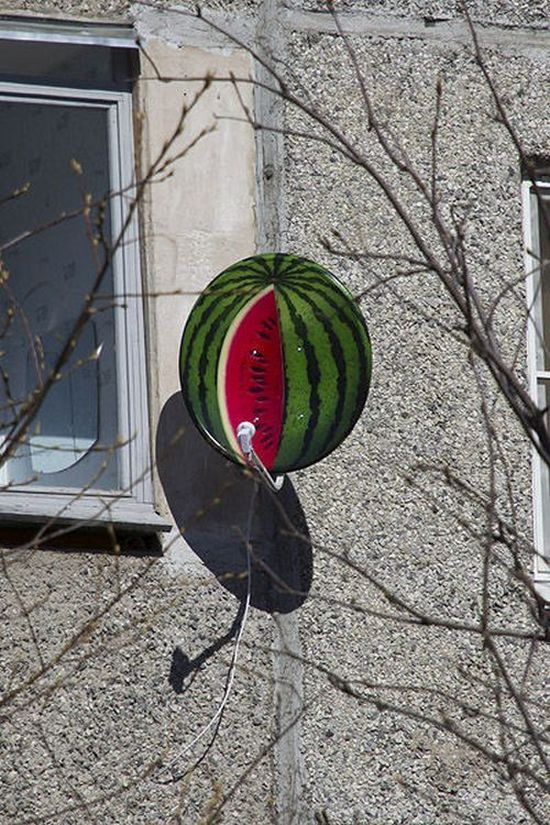 Фото. Летняя покраска спутниковой тарелки (7)