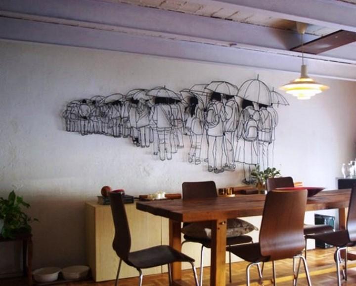 Креатив. Скульптуры из проволоки (11)