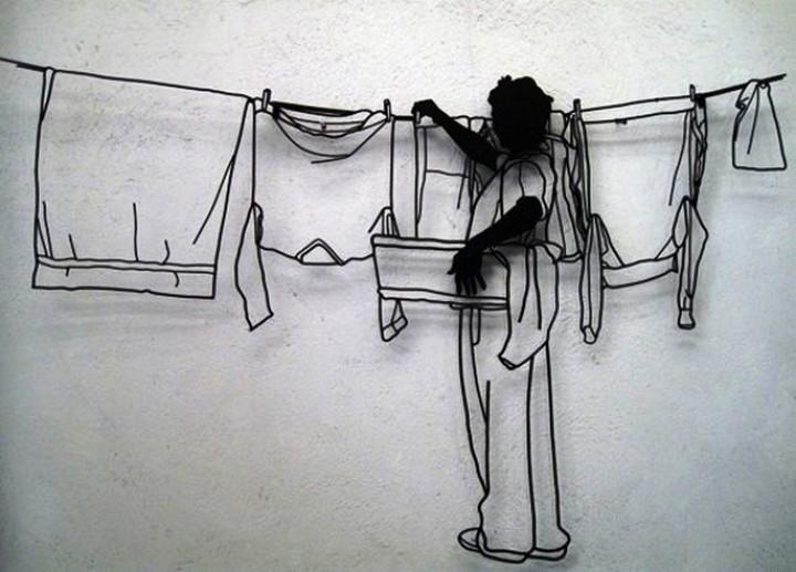 Креатив. Скульптуры из проволоки (5)