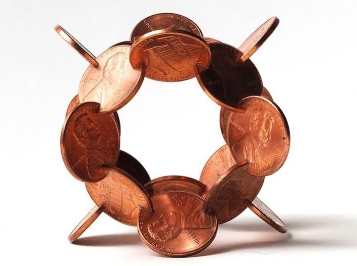 фото, креатив, необычные скульптуры из манет (7)