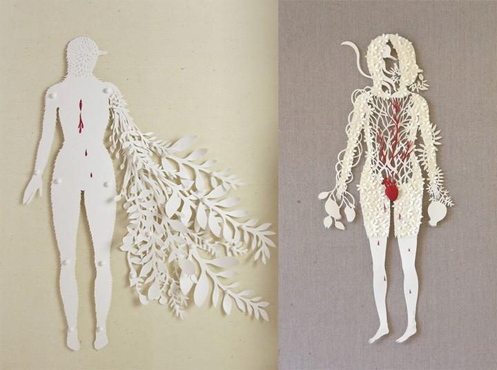 фото, креатив, скульптуры из бумаги (8)