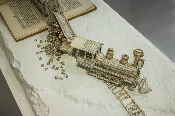 фото, креатив, скульптуры из бумаги (6)
