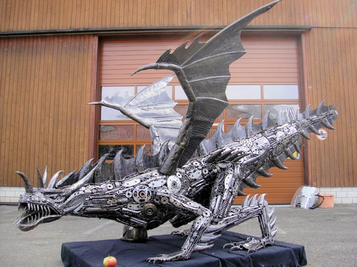 фото, креатив, скульптуры из металлолома (6)