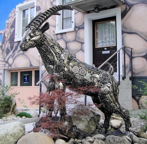 фото, креатив, скульптуры из металлолома (14)