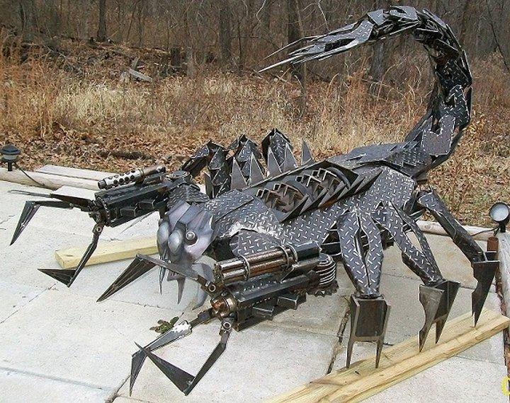 фото, креатив, скульптуры из металлолома (16)