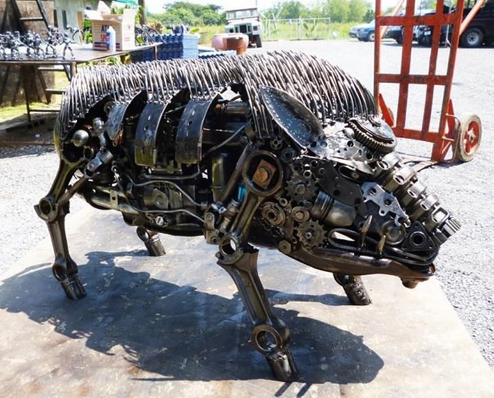 фото, креатив, скульптуры из металлолома (18)