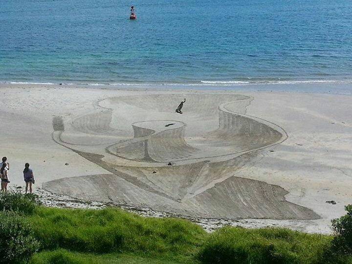 Креатив, 3D-рисунки на песке (4)