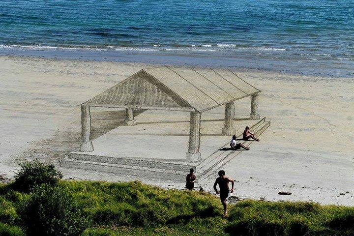 Креатив, 3D-рисунки на песке (6)