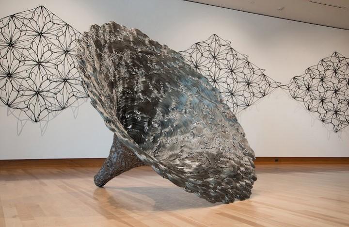 необычные скульптуры из гвоздей (12)