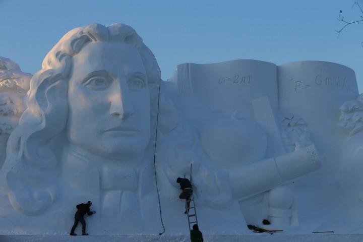 Фестиваль снежных и ледяных скульптур в Харбине (4)