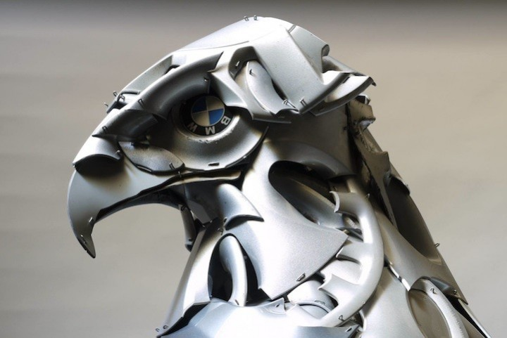 необычные скульптуры из металлома (1)