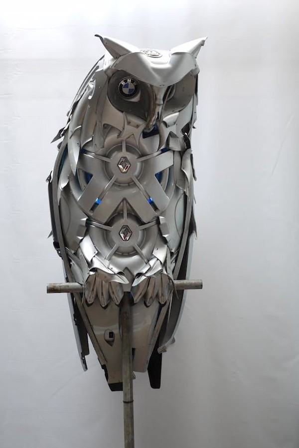 необычные скульптуры из металлома (2)