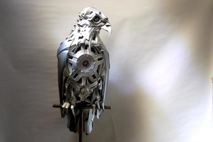 необычные скульптуры из металлома (3)
