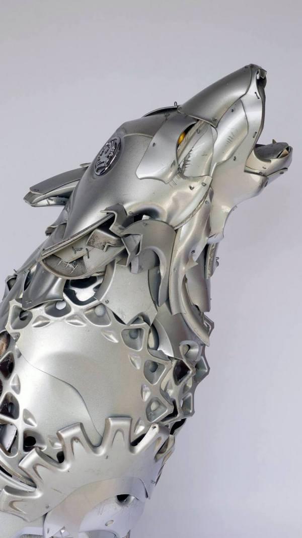 необычные скульптуры из металлома (6)