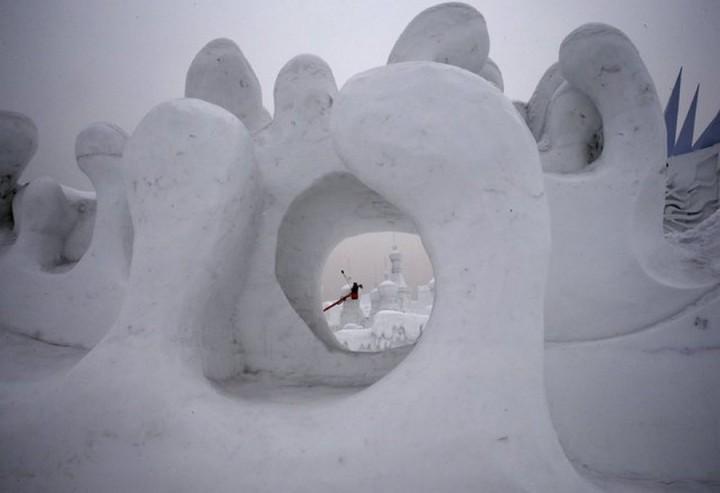 скульптуры из снега и льда (13)