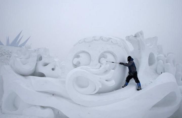 скульптуры из снега и льда (6)