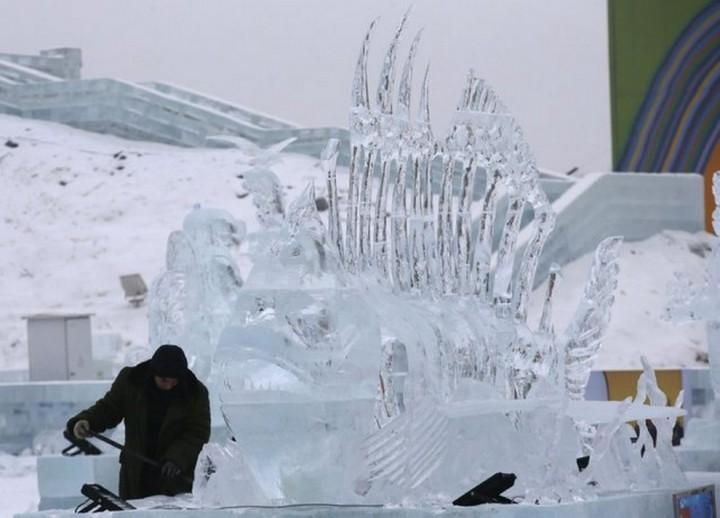 скульптуры из снега и льда (11)