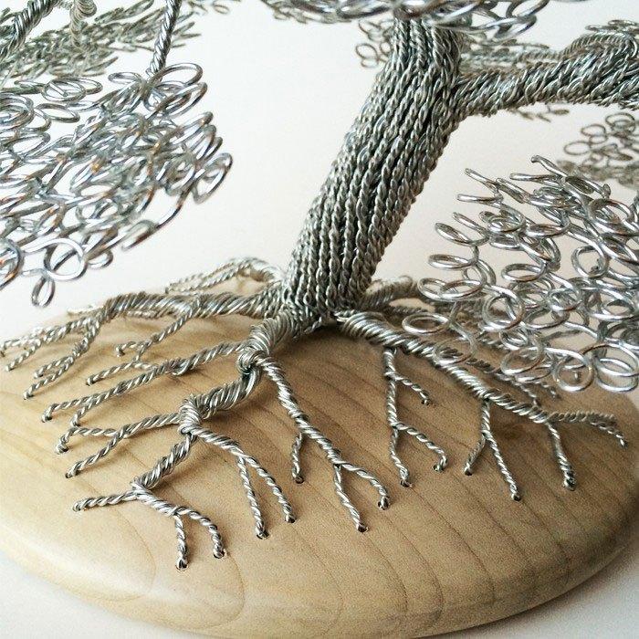 скульптуры деревьев из проволоки, креатив, необычное, бонсаи (11)
