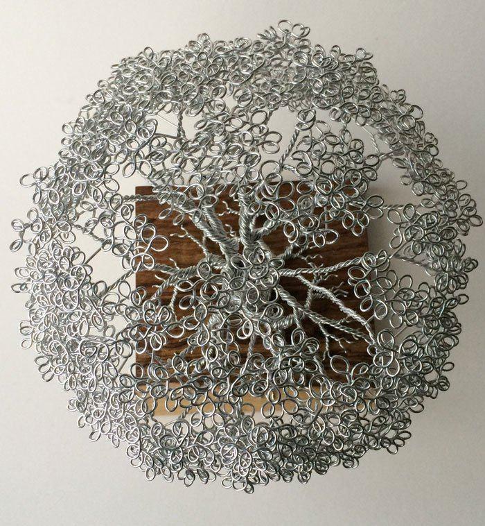 скульптуры деревьев из проволоки, креатив, необычное, бонсаи (8)