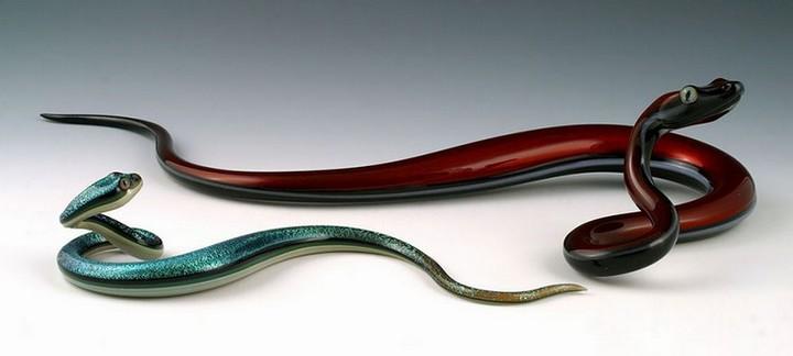 креатив, необычное, скульптуры из стекла (4)