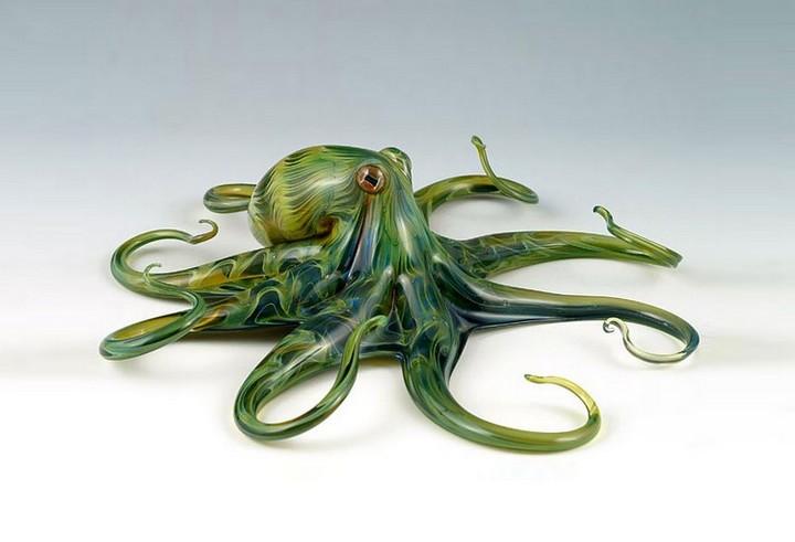 креатив, необычное, скульптуры из стекла (3)