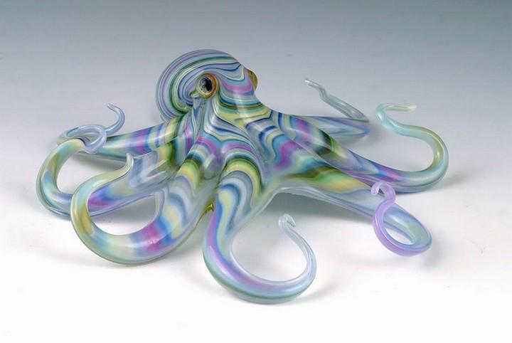 креатив, необычное, скульптуры из стекла (6)