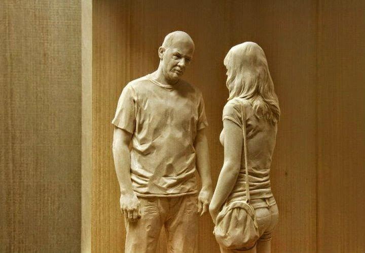 креатив, необычное, скульптуры из дерева (13)