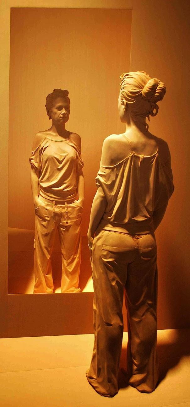 креатив, необычное, скульптуры из дерева (10)