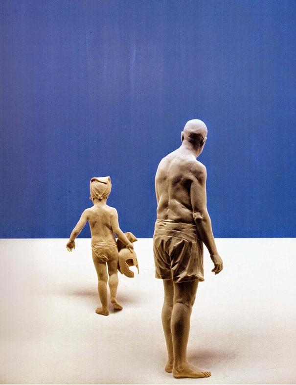 креатив, необычное, скульптуры из дерева (8)