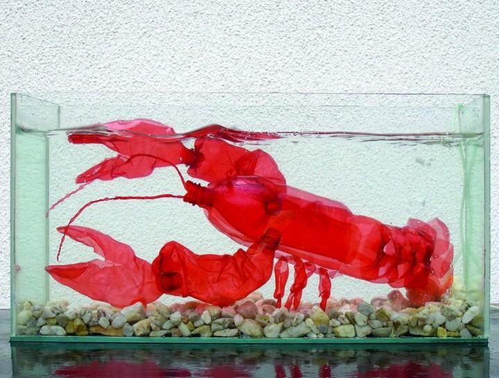 креатив, необычное, скульптуры из пластиковых бутылок (4)