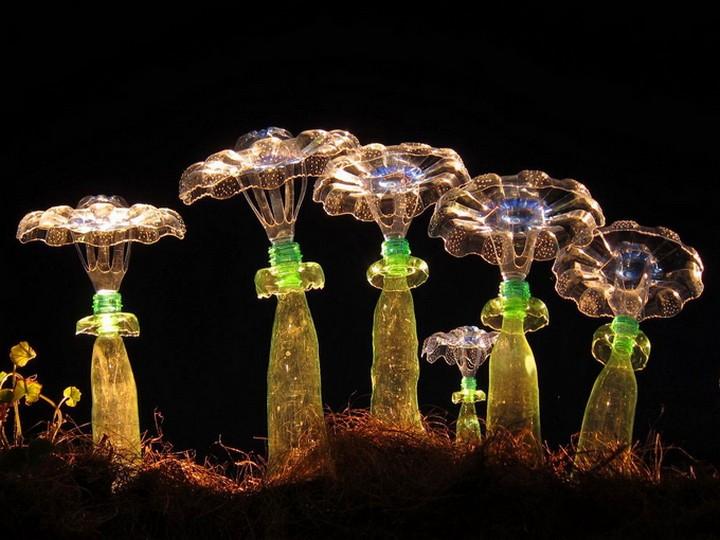 креатив, необычное, скульптуры из пластиковых бутылок (7)