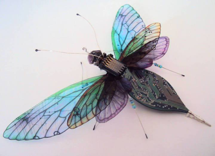 креатив, необычное, скульптуры из печатных плат (5)