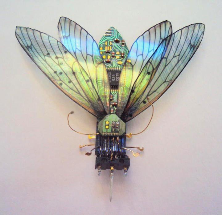 креатив, необычное, скульптуры из печатных плат (2)
