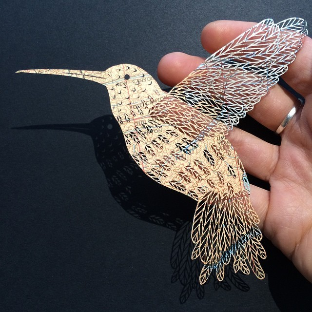креатив, необычное, картины вырезанные из бумаги (1)