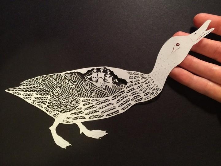 креатив, необычное, картины вырезанные из бумаги (7)