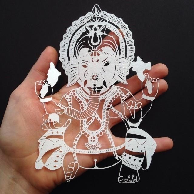 креатив, необычное, картины вырезанные из бумаги (5)