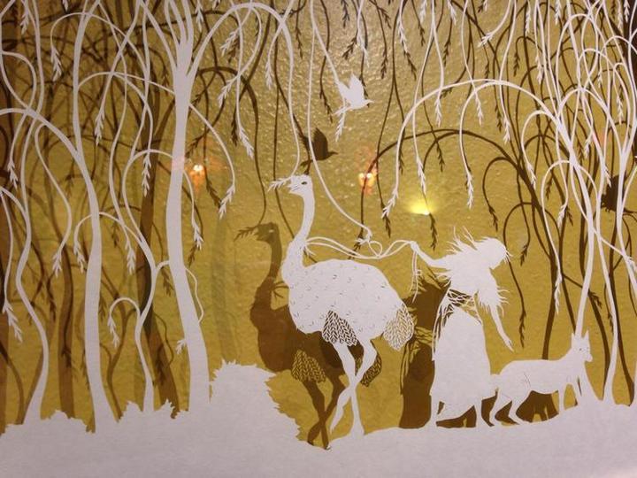 креатив, необычное, картины вырезанные из бумаги (4)
