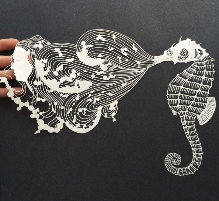 креатив, необычное, картины вырезанные из бумаги (2)
