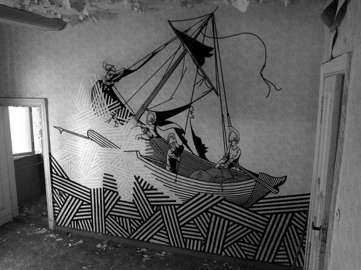 Скотчевый стрит-арт, креатив, необычное (14)