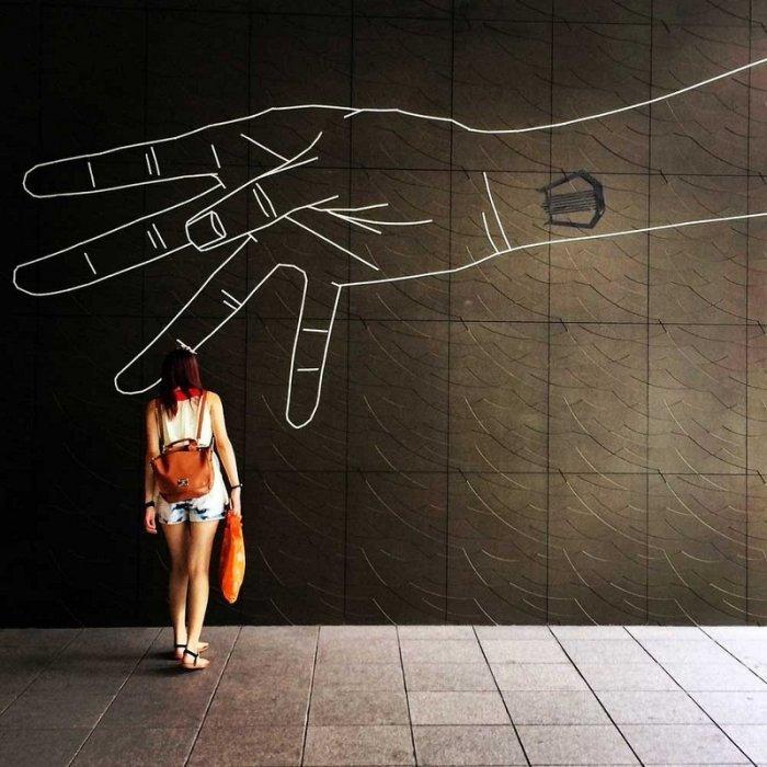 Скотчевый стрит-арт, креатив, необычное (17)